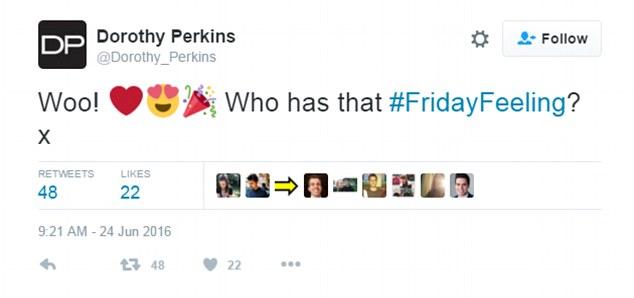 Dorothy Perkins social media marketing gaffe - FMCG marketing