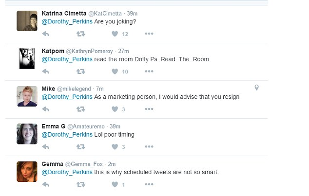 dorothy-perkins-social-media-gaffe-responses - retail trends and retail marketing