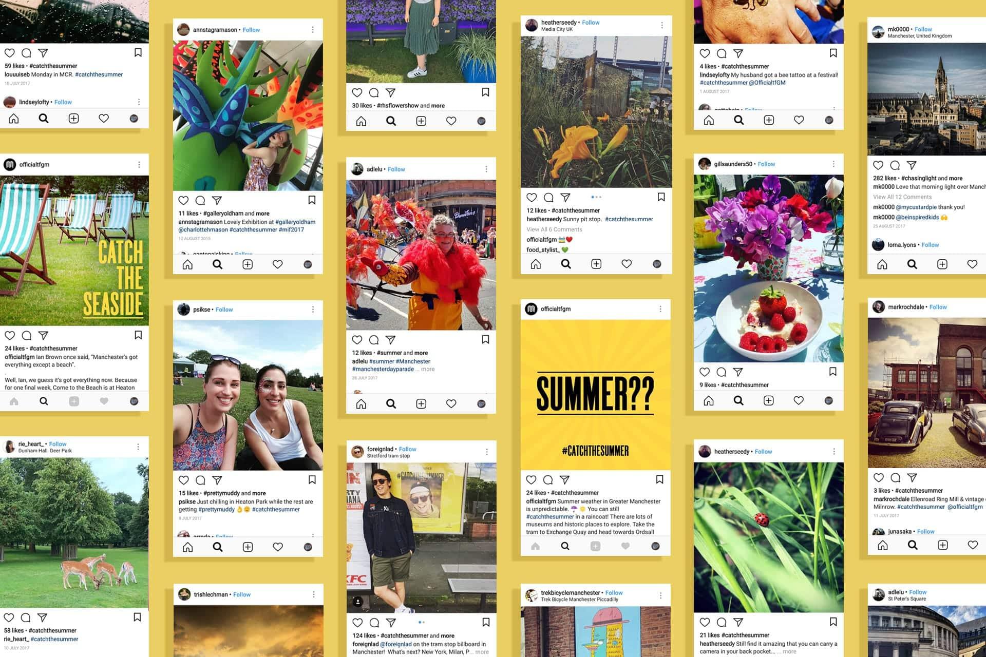 social media marketing creative campaign summer OOH travel transport