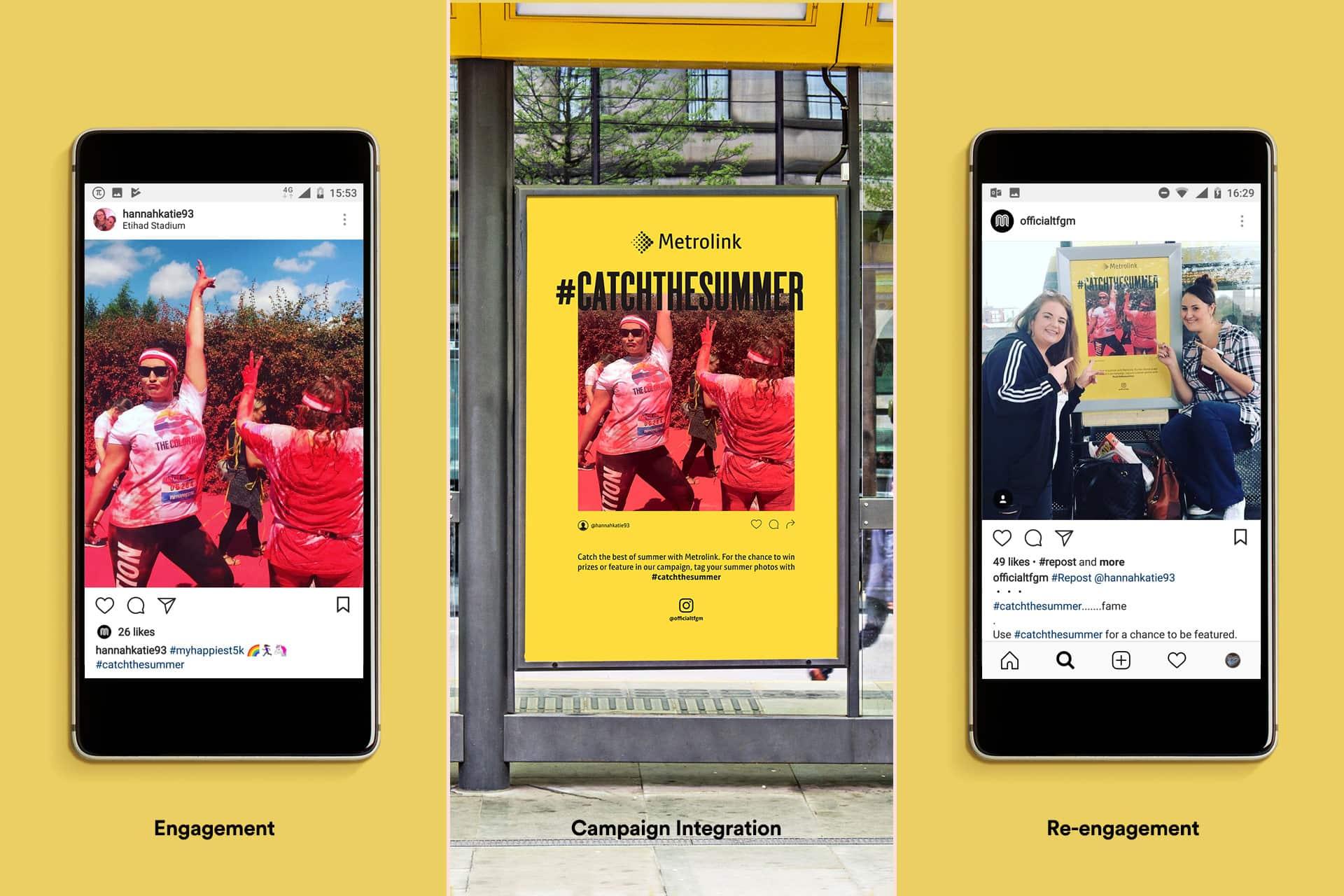 creative campaign marketing social platforms posts metrolink