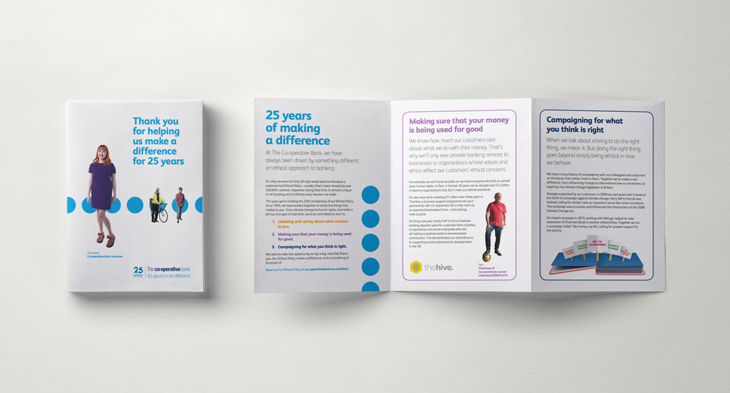 Co-operative bank brand design  financial marketing banking adverts