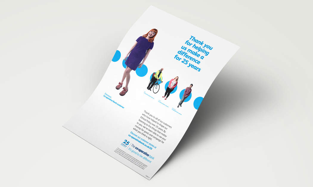 co-operative bank brand design, poster design,  financial marketing banking adverts