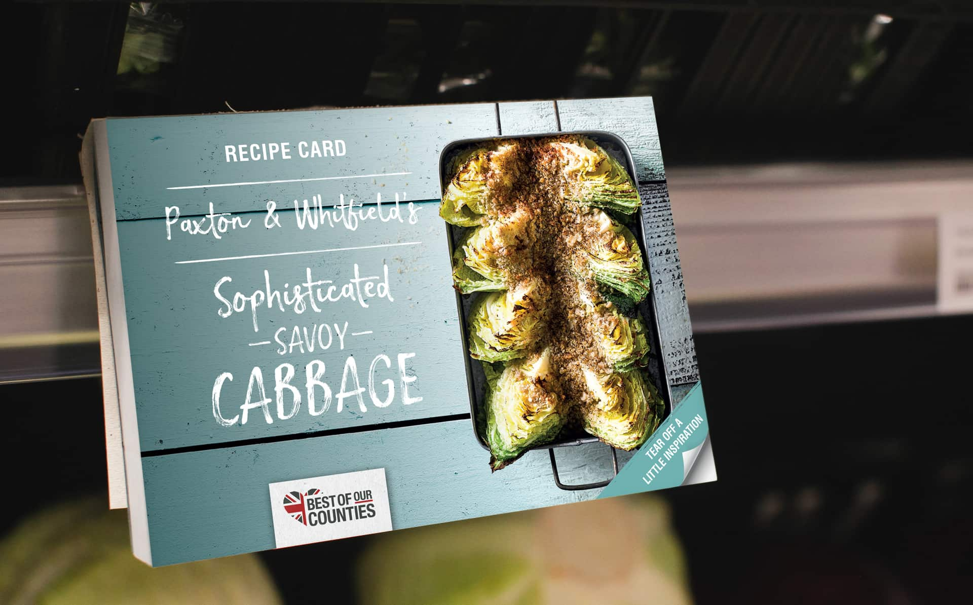 Retail trends: savoy cabbage tear-off POS (Point of sale) materials in retail marketing