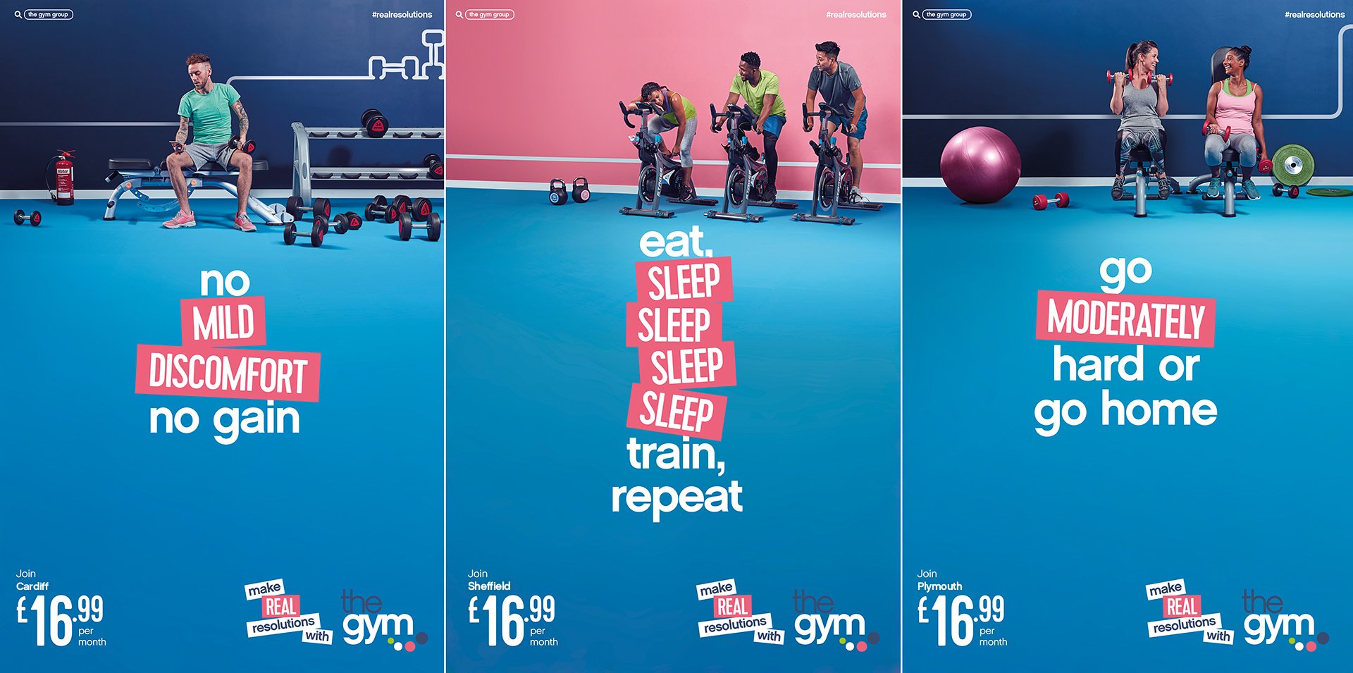 The Gym Group January Marketing Campaign Images