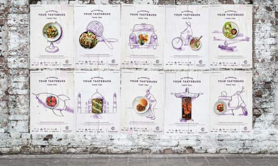 Outdoor advertising and Food marketing for the Corn Exchange Manchester