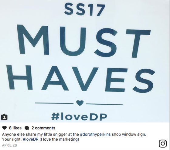 LoveDP - social media marketing called out by 'grammers - the wrong kind of user generated content