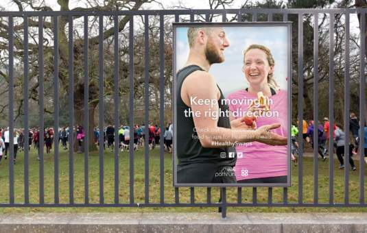 experiential advertising for Co-op Food and Park run