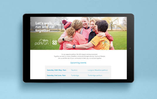 Digital sports marketing for Co-op Food and Park run
