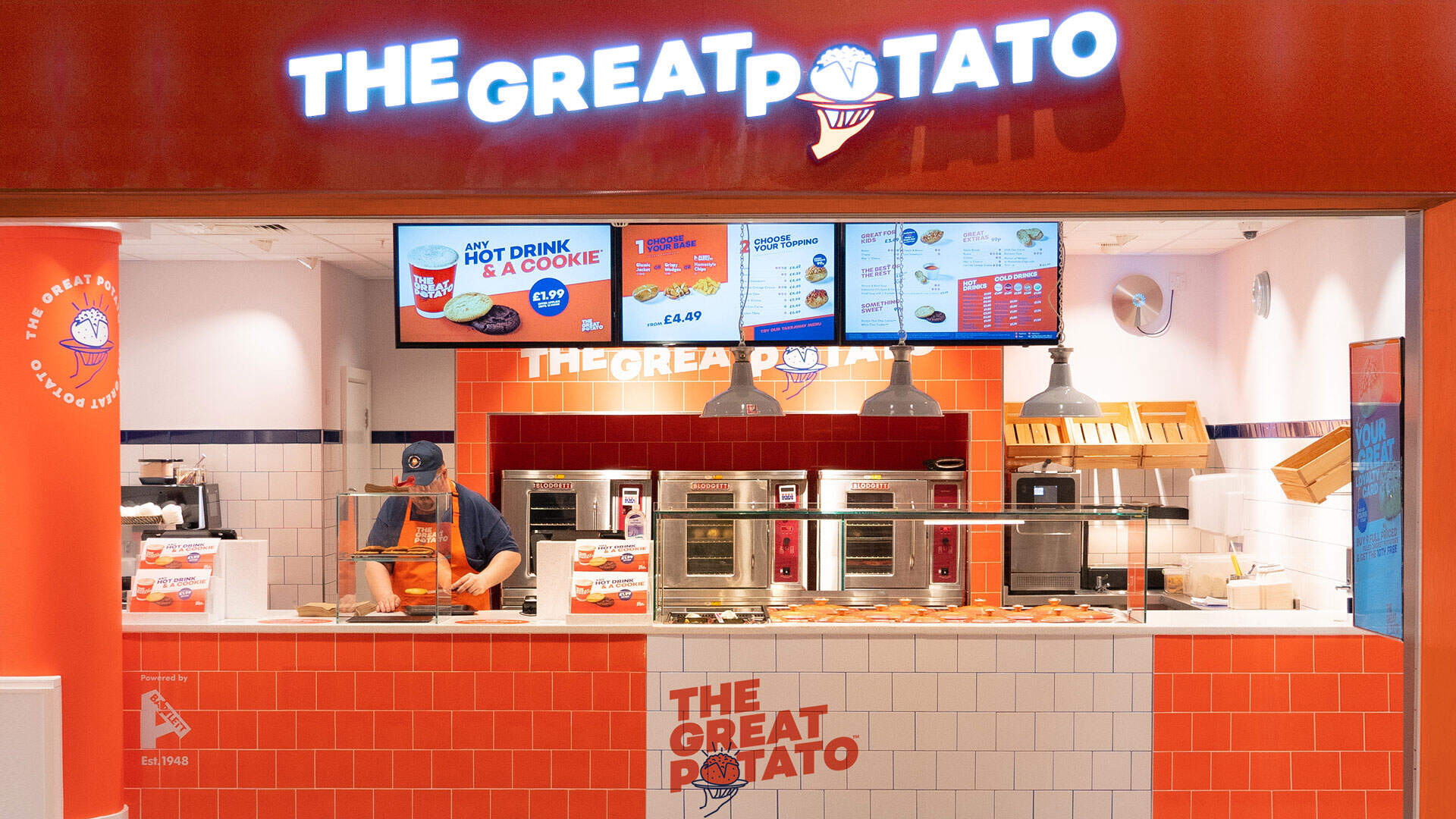 The great potato - rebrand on kiosk